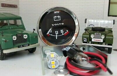Smiths Dash Panel Auxiliary Voltmeter Gauge LED bulb Land Rover Series 1 2 2a 3