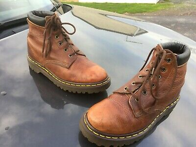 Vintage Dr Martens 939 brown tan leather boots UK 5 EU 38 Made in England