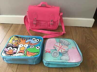 Girls Pink Satchel Lunch Bag And Others.