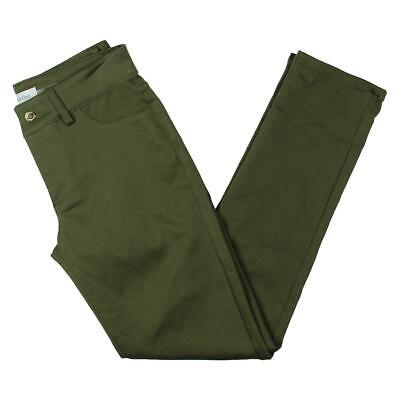 CALVIN KLEIN NEW WOMENS FAUX POCKET SKINNY PANTS Size 2 Olive Green