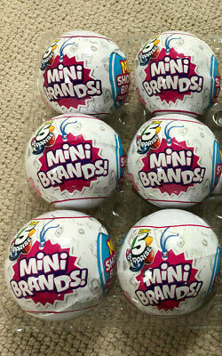 5 Surprise! Mini Brands 1 *6 Balls* Lot Made By Zuru Authentic Ships Now! Htf