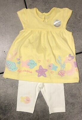 George Baby Girls Summer Dress Outfit 0-3 M (first size) NEW