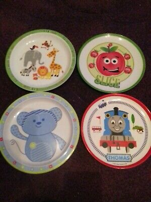 Bundle of Kids Plastic / Melamine Plates All Used But in Good Condition