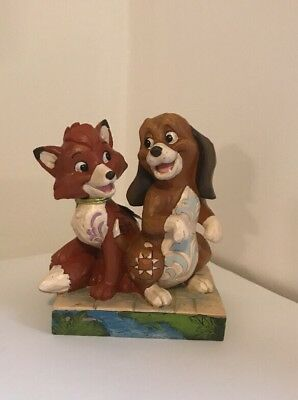 Disney Traditions 4055416 Fox & Hound Figurine New & Boxed With Fault