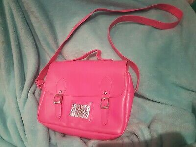 Bright Pink Cool Bag Lunch Bag Satchel Holographic Panel