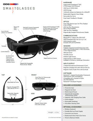 Osterhout Design Group , Odg R-7 Augmented Reality Eye Wear / Smart Glasses