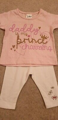 Baby Girls 0-3 outfit Mothercare bottoms/ Daddy top