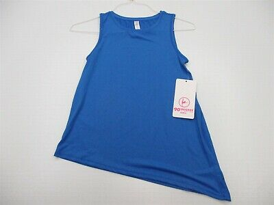 90 DEGREES BY REFLEX Tank Top Youth Size L Active Workout Breathable Blue