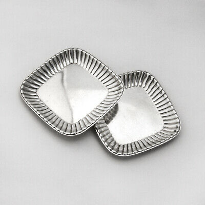 Fluted Border Butter Pats Pair No 58 Gorham Sterling Silver