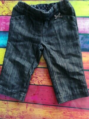 Girls Age 3-4 Blue Denim Cropped Trousers From Next