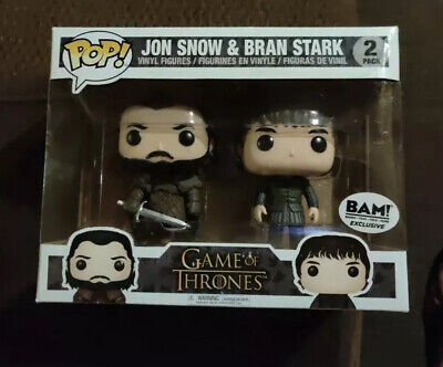 Jon Snow & Bran Stark Game of Thrones 2-pk - BAM Exclusive Funko Pop!