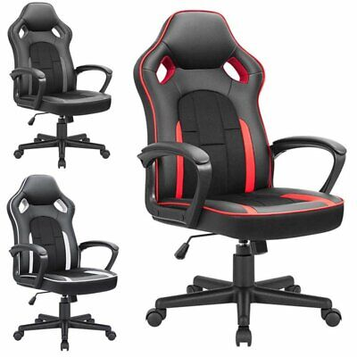 Gaming Chair Ergonomic Executive Office Chair High Back Leather Swivel Chair