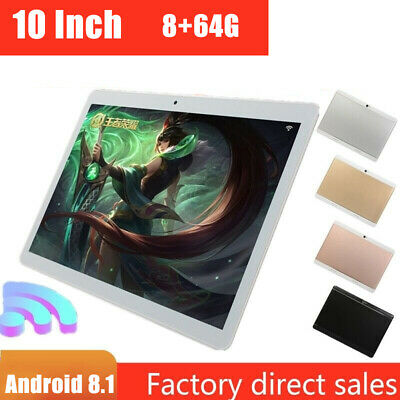 "10"" Inch Tablet PC Android 8.1 HD 8G 64G Octa-Core Google WIFI Dual Camera GPS p"