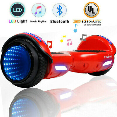 "6.5"" Hoverboard Bluetooth Electric Self Balance Scooter Bag Tunnel LED Girl Gift"