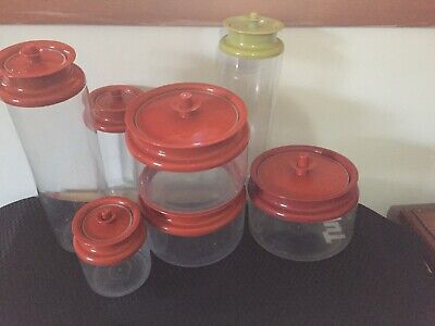 Vintage Tupperware Cannister Set 7 Pce