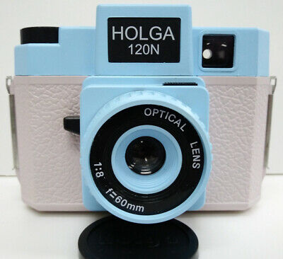 USD - Holga 120N 120 N Medium Format Film Camera BLUE GREY  Lomo Kodak Fuji