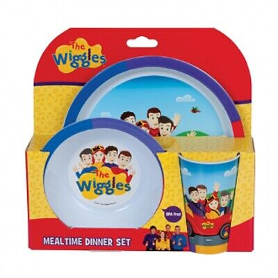 The Wiggles Mealtime Dinner Set 3pce Plate Bowl Cup NEW