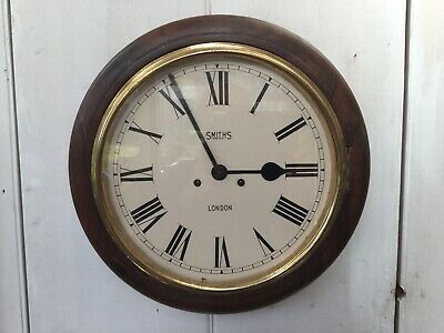 Antique Mahogany Station Wall Clock