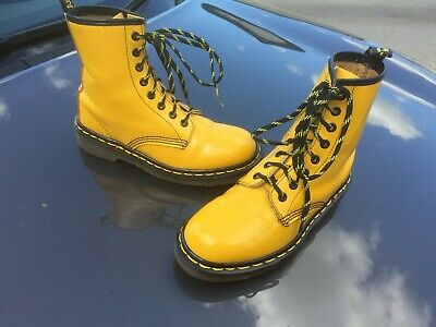 Dr Martens 1460 yellow leather boots Made in England UK 4 EU 37