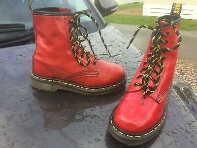 Vintage Dr Martens 1460 red leather boots UK 3 EU 36 Made in England