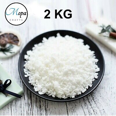 Soy Soya Wax Flakes 100% Pure 2kg Clean Burning Natural Candle Making