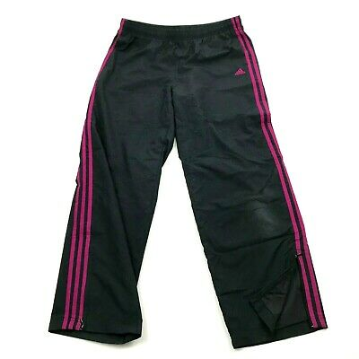 Adidas Women's Track Pants Black Pull On Size Large L Straight Leg Workout Gym