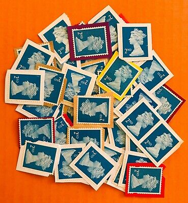 50 GB ( Second ) 2nd Class Letter Stamps On Paper Unfranked Face Value £30.50
