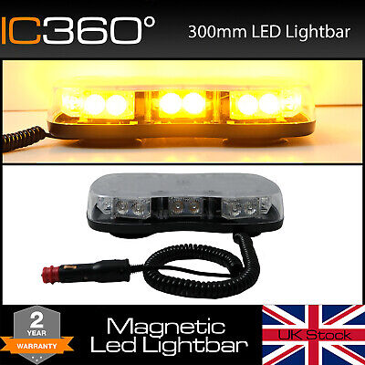 IC360 Mini Magnetic 70mph Lightbar Flashing Recovery Strobe Light Amber Beacon
