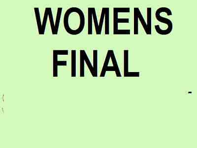Australian Open Tickets ~ Womens Final ~ Saturday 1 Feb ~ Upper Level ~ Women's