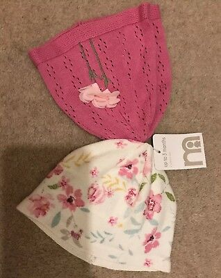 Mothercare Floral Hats New Up To 3 Months 🌸 Baby Girl🌸