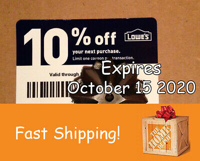 20 Lowes 10% discount for Home Depot only exp October 15 2020