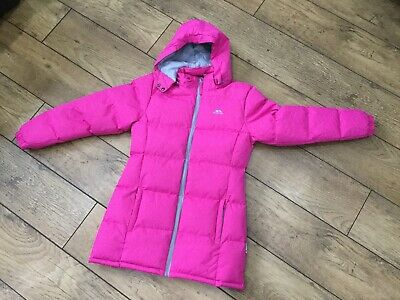 Girls Pink Padded Trespass Coat Age 11-12 - Immaculate Condition !