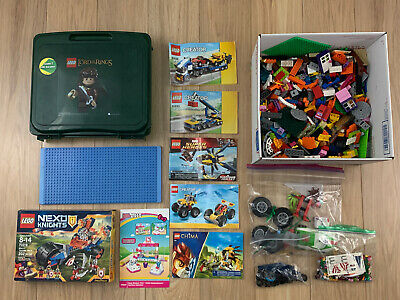 Clean 100% Genuine LEGO Lot 7lbs W/ Case Extras Creator Bulk Marvel Chima Mix