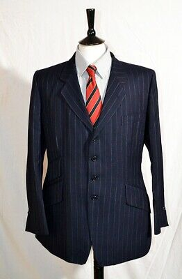 Stunning  New Special Paul Smith Pure Wool D Blue  Pinstripe Suit 42 L Rrp £1K +