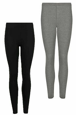 Ex M/&S Black Heatgen Thermal Light Control Slimming Leggings UK 8 10 12