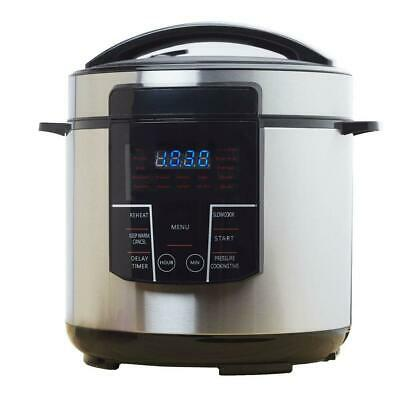 Brentwood Electric Pressure Cooker 6 Qt. Cool-Touch Handle Keep Warm Function