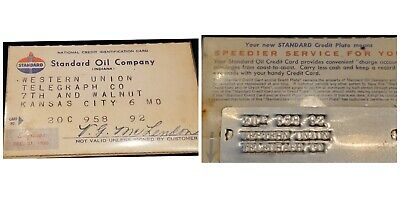 1956 Standard Oil Company Paper Credit Card and metal ♡Free Shipping♡cc389♡ RARE