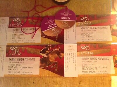 Olympia horse show tickets