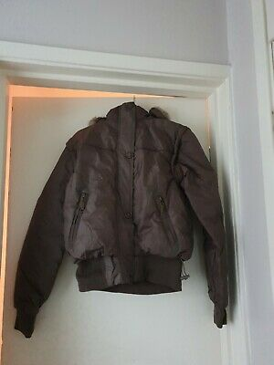 New Boys Childs Lee Cooper Brown  Padded Zip Up Bomber Jacket Coat Age 8 Yrs