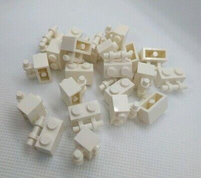 20x Genuine LEGO Part 2540 WHITE 1x2 Open End Handle Spare NEW Authentic Pieces
