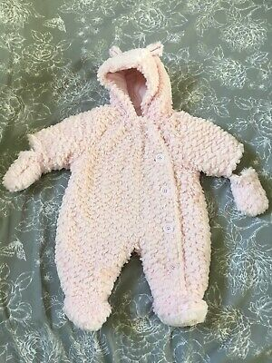 George Pink Girls All In One  Fluffy First Size