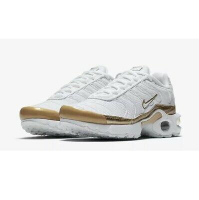 Nike Air Max Plus EP (GS) Trainers Womens's Girls Size 5 BV0026-100 White Gold
