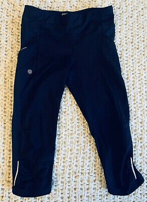 Athleta Girl Stash Your Treasures Black Crops Size Large/12