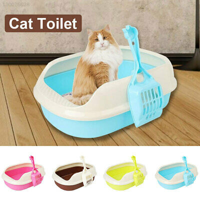 0D5C Plastic Litter Box Pets Anti-Breaking Portable Cat Toilet