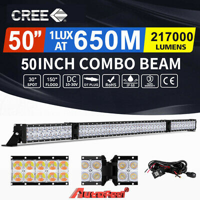 AutoFeel 50inch Cree LED Light Bar Spot Flood Combo Driving Offroad 4x4 UTE 52""
