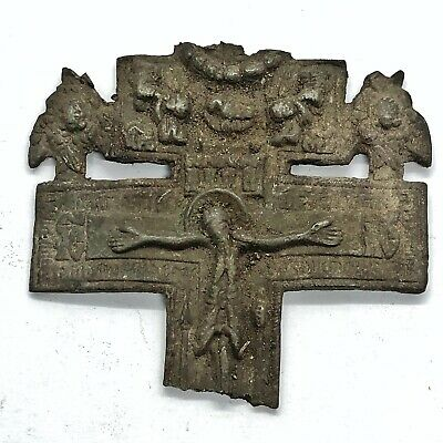 RARE 700-1500 AD Norse Viking Or Crusader Icon Relic Artifact Authentic Medieval