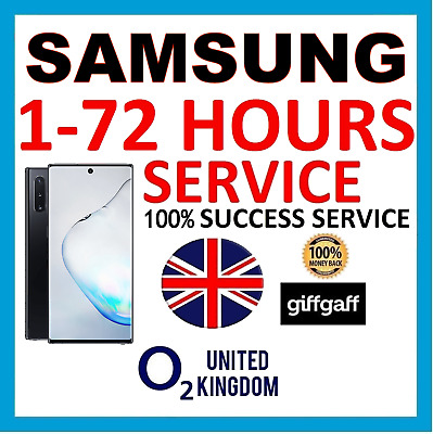 ALL SAMSUNG UNLOCK CODE S10 S9 S8 S7 S6 Note 10 9 8 5 4 O2