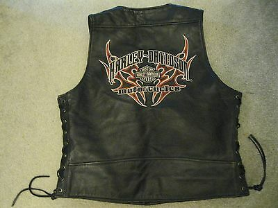 HARLEY TRIBAL AVENGER LEATHER VEST sz L Motorcycle rider bike