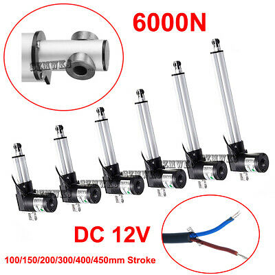 "6000N DC12V Linear Actuator 4""-18"" Stroke Electric Motor for RV Medical Auto Car"