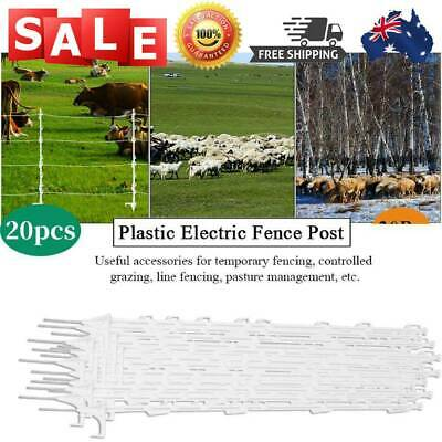 20Pcs Tread In Poly Posts For Electric Fence Wire Tape Insulated Post Graze NEW